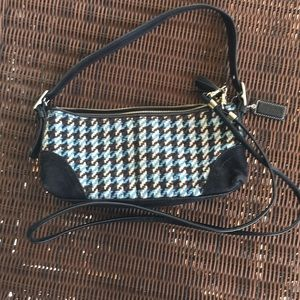 Coach Houndstooth Wool Purse